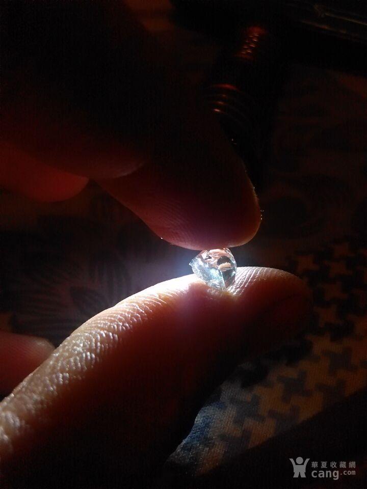 此属于三角薄片双晶种类 金刚钻石 裸石原石_
