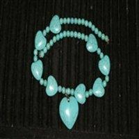 5139 绿松石心形项链