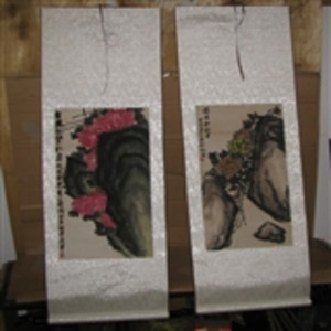 重拍两幅花鸟老画(上场买家没有付款)