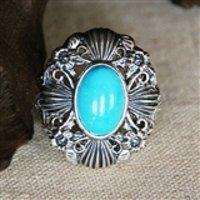 【收藏品】顶级高瓷蓝松925银戒指5