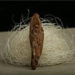 加里曼丹沉水沉香木精雕件3.6g手把件 吊坠挂件 保真收藏