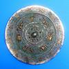 23.5cm镶金银铜镜