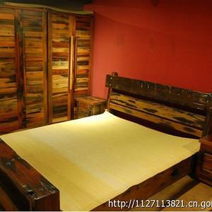 船木条纹衣柜 打破板式衣柜传统 船木家具 衣柜
