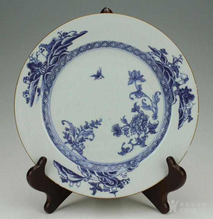 青花盘18世纪中国 图1