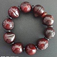 《珠子手链》请老师鉴定,材质,年代,收藏价值。