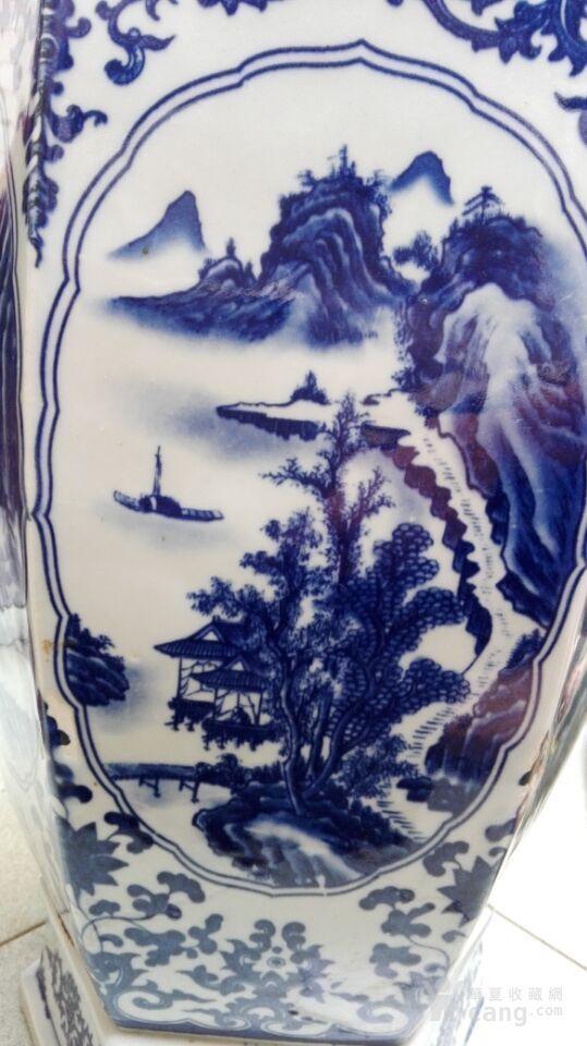 精工六角青花瓶