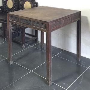 清代苏作老红木棋桌