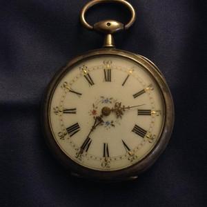 古董老法国925银怀表一只