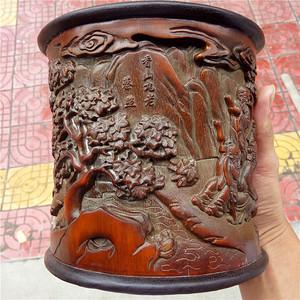 竹雕笔筒  木器铜器竹器古玩收藏