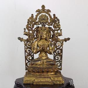 清代 铜鎏金造像