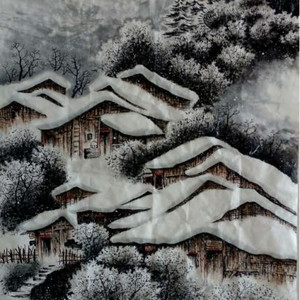 李怀钊山水画 《雪乡风韵》