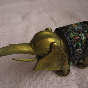 掐丝珐琅镀金紫铜小象