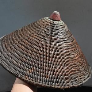清朝边防藤编凉帽
