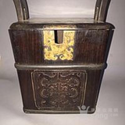 清中期  老红木茶壶 桶