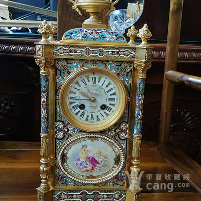 法国珐琅座钟