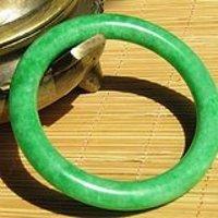 老坑 翡翠 满绿 圆条 手镯