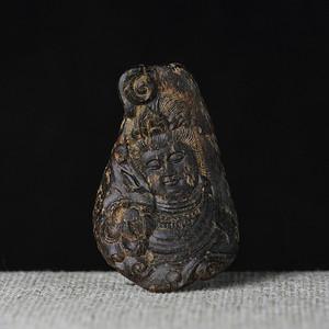 香缘木艺 千年矿化 加里曼丹沉水观音挂件