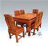 日照豪华缅甸花梨餐桌 清式雕花 雍容华贵