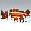 日照手工打造缅花沙发 传承经典红木文化
