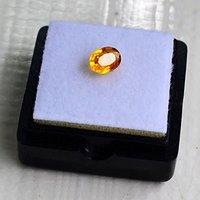 纯黄色蓝宝石 斯里兰卡纯天然椭圆型0.92克拉蓝宝石