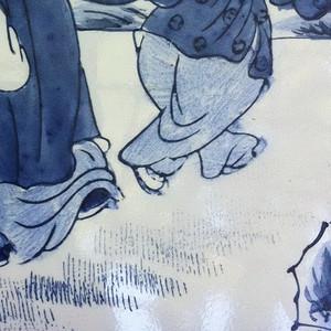 近现代釉上青花瓷板画
