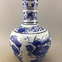 青花莲池瓷瓶A5434