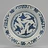 十七世纪 天鹅瓷盘