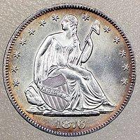 1876年 美国银币