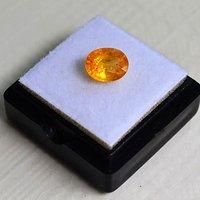 纯黄色蓝宝石 斯里兰卡纯天然椭圆型2.10克拉蓝宝石