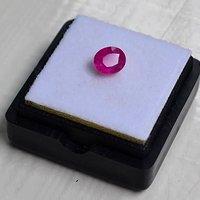 红宝石 缅甸抹谷产纯天然椭圆型1.09克拉粉红色红宝石