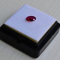 红宝石 缅甸抹谷产纯天然椭圆型0.46克拉浓彩红色红宝石