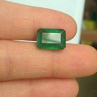 祖母绿宝石戒面 收藏级天然哥伦比亚祖母绿5.64克拉