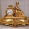 铜镀金钟表,请准确看老不老?什么时期?