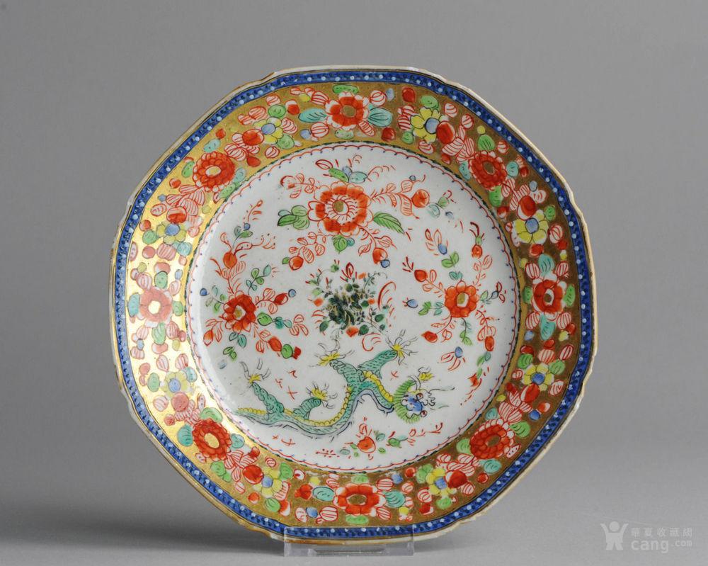 早期乾隆花纹瓷盘