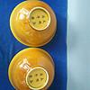 大清弘治年黄釉龙凤瓷碗
