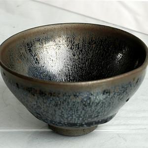 宋代建窯黑釉油滴盞