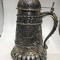 意大利纯银古董储水罐 国外古董金银器之二