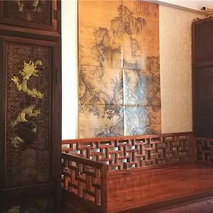 顶箱柜一对,清代,宫廷皇家家具,岫玉,雕六龙,云龙纹