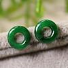 一对冰种满绿老翡翠小环 包天然A货 500