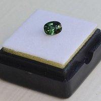 绿色蓝宝石 斯里兰卡纯天然椭圆型0.88克拉蓝宝石