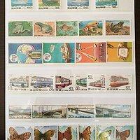 朝鲜全新精美成套邮票25套