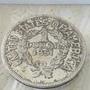 美元1851银币