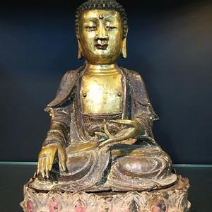 明 释迦牟尼青铜造像