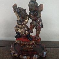 清代潮汕金漆木雕人物