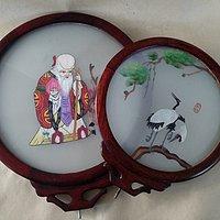 苏绣 双面绣仙鹤和寿星