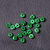 二十颗满绿老翡翠算盘珠子小隔珠 颜色好 180