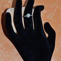 女款钻戒 18K金镶天然南非钻石戒指 32分E色VS1净度