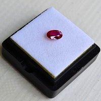红宝石 缅甸抹谷产纯天然椭圆型0.48克拉浓彩红色红宝石