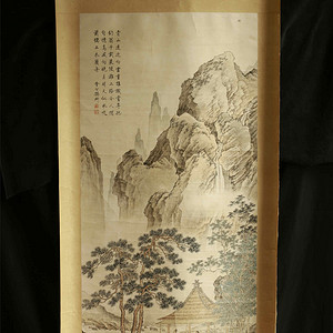 明代佚名山水古画真迹精品,传承有序师出名门,华夏网最好的古画