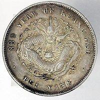 33年北洋造光绪元宝 库平七分二分银币